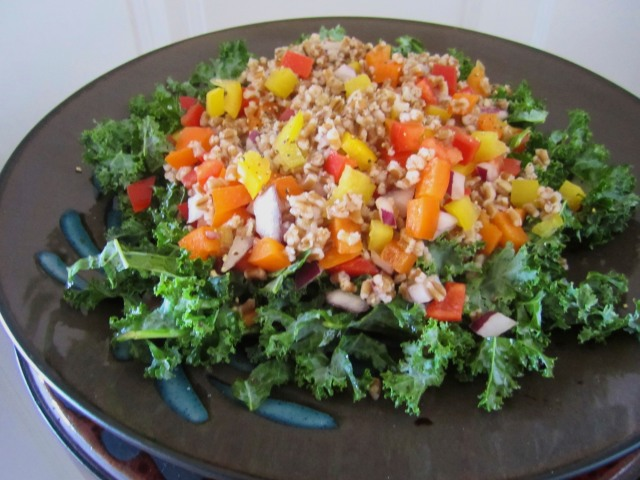 Wheat Berry and Kale Salad