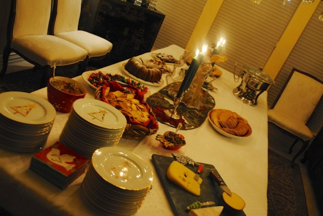 The full spread for the party