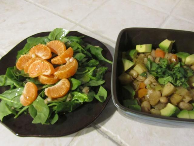 Chili and Salad