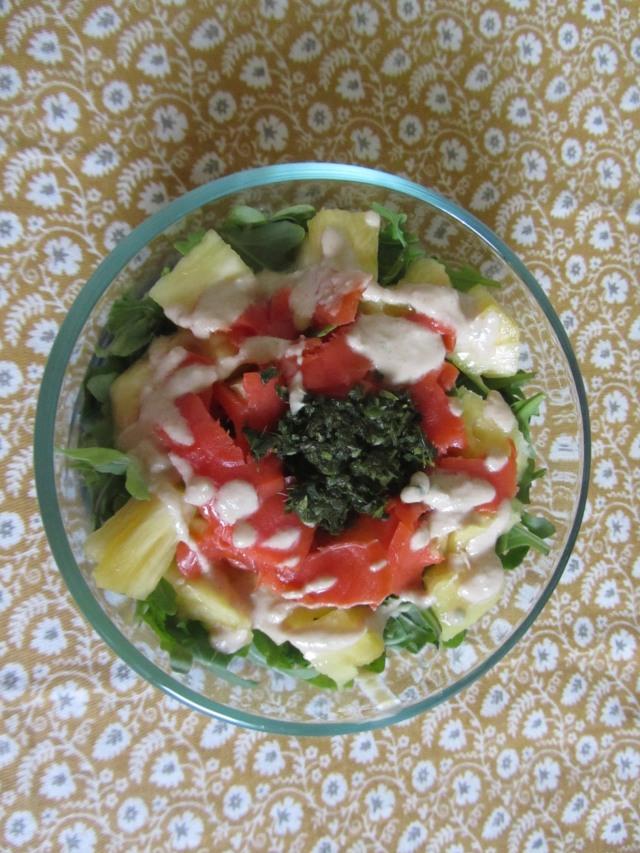 Salmon and Pineapple Salad