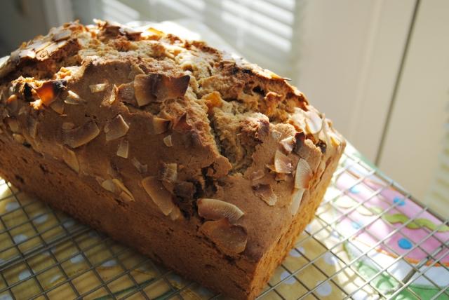Apricot Coconut Quick Bread