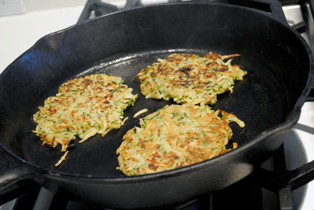Fritters cook best in a Cast Iron skillet