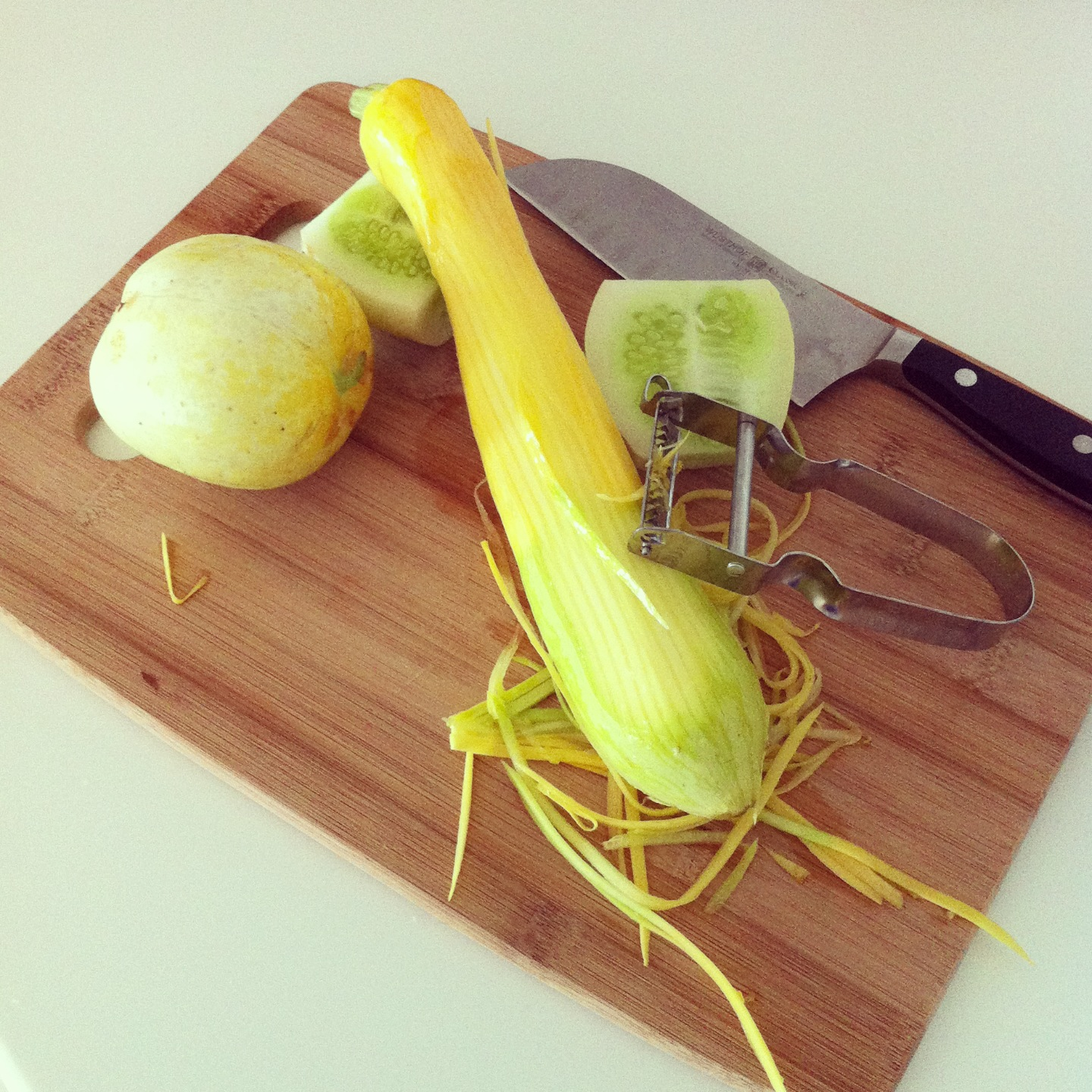 My latest kitchen gadget: a julienne peeler