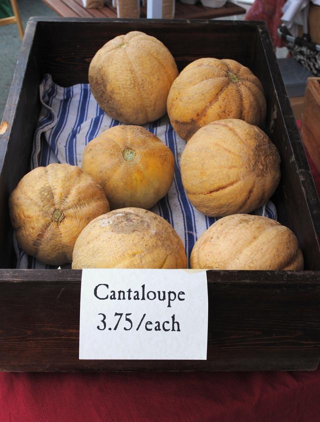 Market cantaloupe